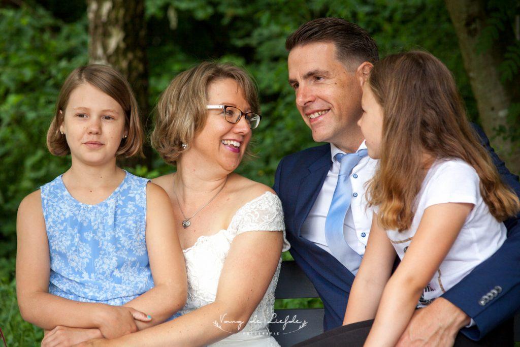 Miranda Molhoek met haar gezin